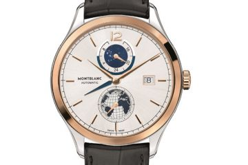 Ultra Thin Rose Gold Montblanc Heritage Chronométrie Dual Time Vasco Da Gama Fake Watch