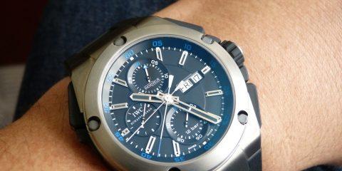 IWC Ingenieur Double Chronograph Titanium watch replica