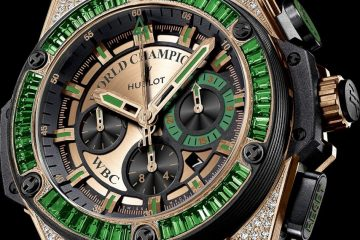 Hublot King Power WBC Full Pavé replica watch