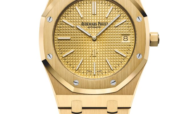 Yellow Gold Audemars Piguet Royal Oak Jumbo replica