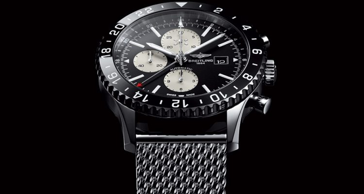 Breitling Chronoliner Blacksteel replica watch