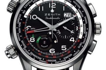 The Complicated World Time Chronograph Zenith Pilot Doublematic Watch For Sale