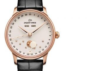 The Rose Gold Ivory Enamel Jaquet Droz The Eclipse Ultra Thin Watch Replica