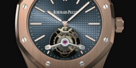 Audemars Piguet Royal Oak Tourbillon Blue Dial Watch Replica Ref. 26510