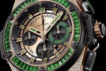 Hublot King Power WBC Full Pavé replica watch
