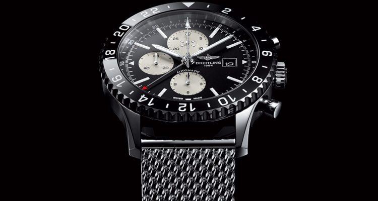 Breitling Chronoliner Blacksteel replica watch