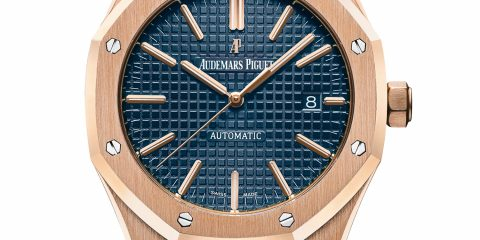 rose gold Audemars Piguet Royal Oak 15400or Blue Dial replica